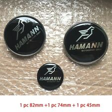 3pc Hamann Car Front Hood Badge Rear Trunk Emblem Steering Wheel Emblem for BMW