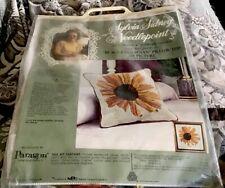 Lot Of 2 Vintage Black Eyed Susan With Ladybug Sylvia Sidney Needlepoint Kits