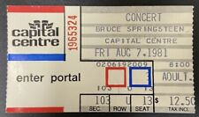 Bruce Springsteen 1981 Concert Ticket Stub