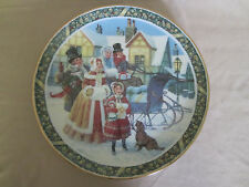 HERE WE COME A-CAROLING collector plate JACK WOODSON Christmas Carol