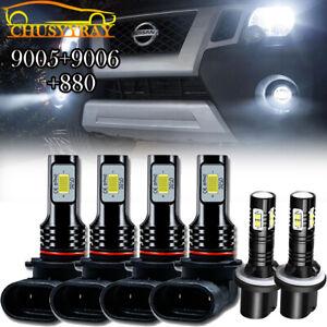 For Nissan Armada 2005-2010 Titan 2004-2015 - 6x LED Headlights + Foglight Bulbs