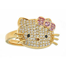 Kimora Lee Simmons Hello Kitty Ring 2.50Ct tw Diamond Ring in 18kt Yellow Gold