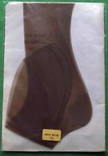 PIN UP GIRL GRAND PUR Renforcée bout talon RHT VINTAGE bas taille 10.5 BEIGE