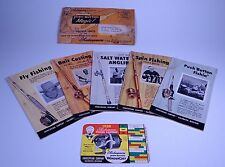 RARE 1958 Shakespeare Booklets Push Button Magic Fishing Reels Rods Line Prices.