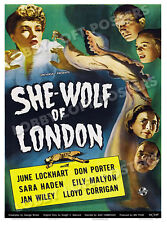 SHE WOLF OF LONDON LOBBY CARD POSTER OS 1946 JUNE LOCKHART DON PORTER SARA HADEN