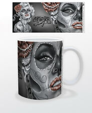JAMES DANGER DOD RED ROSE 11 OZ COFFEE MUG TEA CUP SKELETON SKULL ART ARTIS