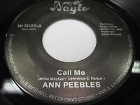 Lot of 4 NAYLO Soul 45's Ann Pebbles, Lynn White Memphis Tennessee c