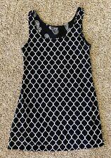 Womens Black White Jamie & Layla Reversible Dress Petite Medium