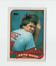 Pete Rose Cincinnati Reds Manager 1989 Topps Baseball Card Number 505