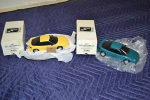 AMT Ertl 1991 Geo Storm GSI Teal Blue Metallic & Yellow Dealer Promo Car