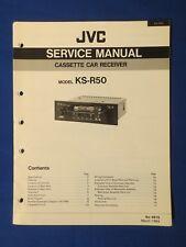 JVC KS-R50 Car Audio Cassette Service Manual Factory Original The Real Thing