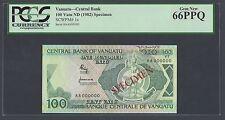 Vanuatu 100 Vatu Nd(1982) P1s Specimen Uncirculated