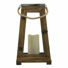 "Newport LED Lantern in Natural Wood, 15"""