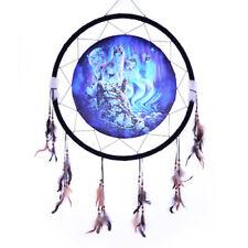 "Giant 26"" Blue Hidden Wolves Wolf Water Rock Scene Dream Catcher Feathers 2666"
