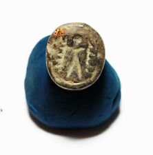 ZURQIEH -as17910- ANCIENT HOLY LAND. STONE SCARABOID. 1100 - 1000 B.C
