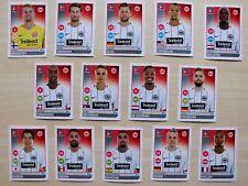 alle 14 Spielerbilder/Sticker Eintracht Frankfurt Bundesliga Saison 2017/18
