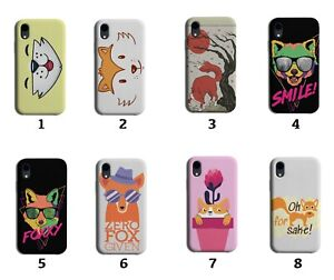 Fox Phone Case Cover Foxes Face Cartoon Animal Kids Ginger Foxy Picture 8203 A