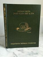 Catalogue Di Vendita Importanti Lavagna Moderno Espace Cardin 4 Giugno 1987