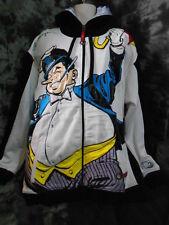 Original DC COMICS Cartoon THE PENGUIN L29 Textured Hoodie Jacket Men's 2XL L/S