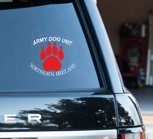 Army Dog Unit window badge forces Sticker British Army Special Forces royal