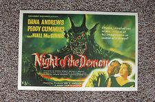 Night of the Demon Lobby Card Movie Poster Dana Andrews Peggy Cummins Niall Mac