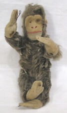 Vintage Toy Monkey Doll Curly Hair Felt Movable Arms Legs 1940s