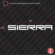 2X GMC SIERRA 14 INCHES sticker vinyl decal