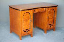 Blonde birch writing desk Art Deco antique Biedermeier Swedish 1920 original