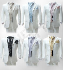 BOYS IVORY SUIT 4 PCS FORMAL PAGE BOY  WEDDING CRAVAT SUITS