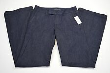 Banana Republic Womens Wide Leg Mid-Rise Dark Blue Denim size 25R NWt