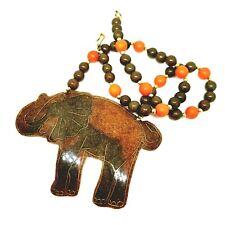 Collar Colgante de Elefante Grande Acrílico Retro Tribal étnico, África,. declaración