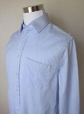 CHARLES TYRWHITT Men's Slim Fit Shirt Blue Striped L/Sleeve Cotton Sz 16/36