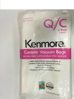 Kenmore 6-Pack Canister Vacuum Bags 53292 Type Q/C