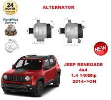 FOR JEEP RENEGADE 4x4 1.4 140 BHP 2014 >ON ALTERNATOR UNIT