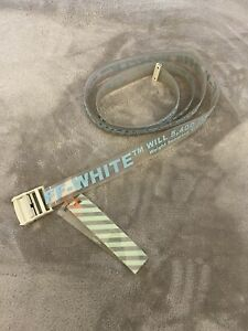 OFF-WHITE Rubber Industrial Belt Transparent Fluo Blue