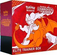 Pokemon TCG Sun & Moon Unbroken Bonds Elite Trainer Box - 8 busters + Other