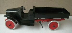 "1920's Buddy L Dump Truck 24"" long Pressed Steel Rare"