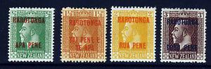COOK ISLANDS 1919 Overprinted RAROTONGA & SURCHARGE P.14x15 Set SG 56 to 59 MINT