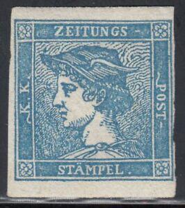 Österreich 1851 Nr. 6 II Merkurkopf Originalgummi Attest VÖB