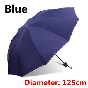 130CM Men Women Large Folding Rain Umbrella Anti-UV Windproof Big Oversized New