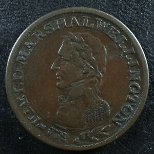 WE-2A2 Halfpenny token Field Marshal Wellington Canada Breton 971