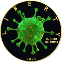 American Silver Eagle COVID VIRUS OUTBREAK 2020 Walking Liberty $1 Dollar Coin