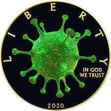 American Silver Eagle OUTBREAK COVI 19 VIRUS CORON 2020 Liberty $1 Dollar Coin