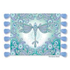 Dragonfly Dreams Plush Tassel Throw Rug Snuggly Blanket Paisley Lisa Pollock