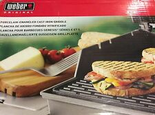 Weber Porcelain Enambled Cast Iron Griddle Grate 4 Reversible 300 Series Grill