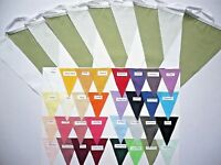 Fabric Bunting Pick your own Colour or Multiple Colours Wedding Party Per Metre