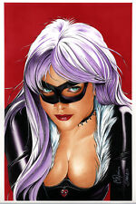 HOT MARVEL COMICS BLACK CAT Lithograph by Billy Tucci