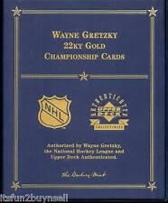 4 WAYNE GRETZKY CHAMPIONSHIP 83 84 86 87 22 KT GOLD SET UDA DANBURY MINT