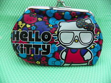 HELLO KITTY *-* PORTE MONNAIE *-* multicolore Kitty lunettes blanches