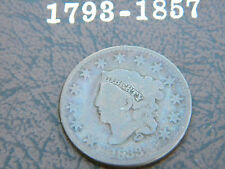 1833 US Large Cent Cornet Head - Nice chocolate color Newcomb 5 variety